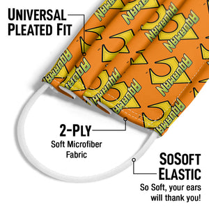 Aquaman Logo Pattern Adult Universal Pleated Fit, 2-Ply, SoSoft Elastic Earloops