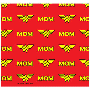Load image into Gallery viewer, Wonder Woman Wonder Mom Logo Pattern Adult Mask Design Full View