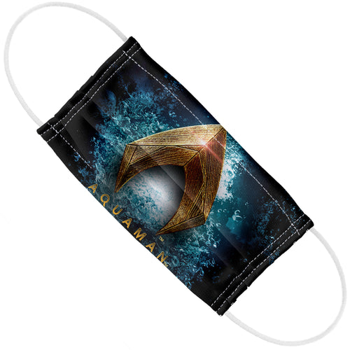 Justice League Movie Aquaman Logo Adult Flat View