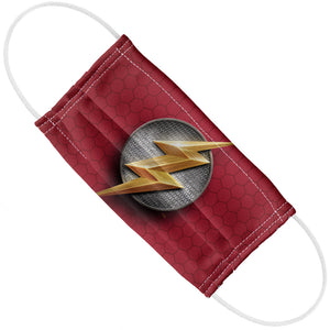 Justice League Movie Flash Lightning Bolt Logo Adult Flat View