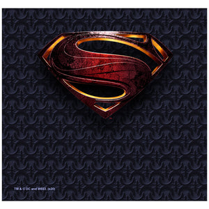 Justice League Movie Superman Logo Adult Mask Design Full View