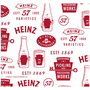 Heinz Ketchup Vintage Pattern Adult Mask Design Full View