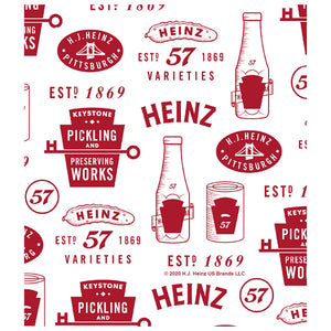 Heinz Ketchup Vintage Pattern Kids Mask Design Full View