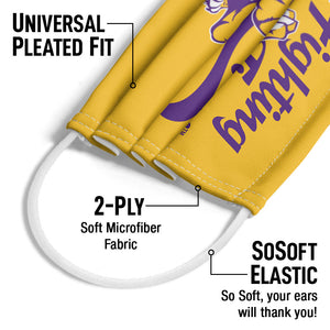 LSU Mike the Fighting Tiger Adult Universal Pleated Fit, 2-Ply, SoSoft Elastic Earloops