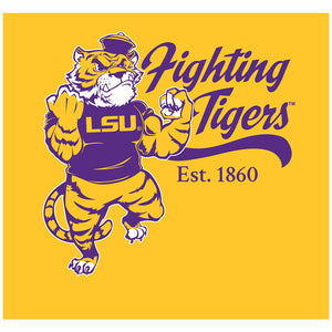 LSU Mike the Fighting Tiger Adult Mask Design Full View