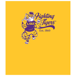 LSU Mike the Fighting Tiger Kids Mask Design Full View