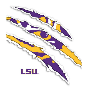 LSU Tiger Scratches Kids Mask Design Full View