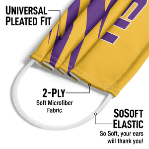 LSU Tiger Stripes Adult Universal Pleated Fit, 2-Ply, SoSoft Elastic Earloops