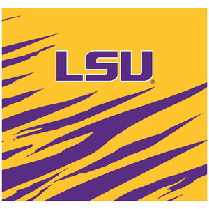 Load image into Gallery viewer, LSU Tiger Stripes Adult Mask Design Full View