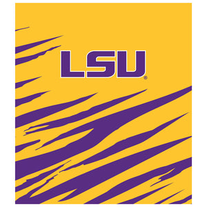 Load image into Gallery viewer, LSU Tiger Stripes Kids Mask Design Full View