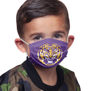 Load image into Gallery viewer, LSU Tiger Face Kids Main Model View