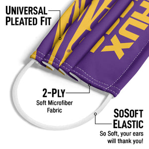 LSU Geaux Tigers Adult Universal Pleated Fit, 2-Ply, SoSoft Elastic Earloops