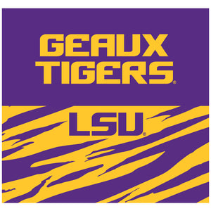 LSU Geaux Tigers Adult Mask Design Full View
