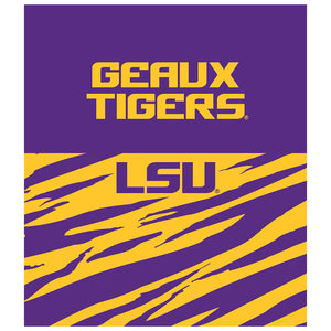 LSU Geaux Tigers Kids Mask Design Full View