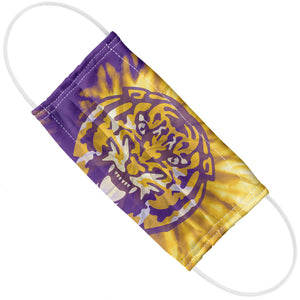 Load image into Gallery viewer, Louisiana State University (LSU) Tie Dye Adult Flat View