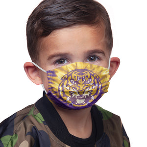 Load image into Gallery viewer, Louisiana State University (LSU) Tie Dye Kids Main Model View