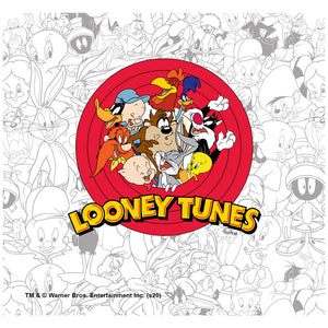 Looney Tunes Logo and Pattern Adult Mask Design Full View