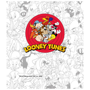 Looney Tunes Logo and Pattern Kids Mask Design Full View