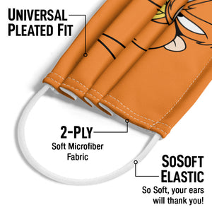 Looney Tunes Yosemite Sam Face Adult Universal Pleated Fit, 2-Ply, SoSoft Elastic Earloops