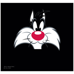 Looney Tunes Sylvester Face Adult Mask Design Full View