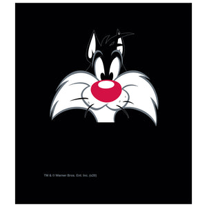 Looney Tunes Sylvester Face Kids Mask Design Full View