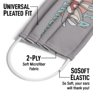 Looney Tunes Ain't I a Stinker Adult Universal Pleated Fit, 2-Ply, SoSoft Elastic Earloops
