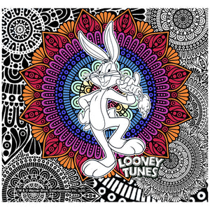 Looney Tunes Bugs Bunny Mandala Adult Mask Design Full View