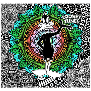 Load image into Gallery viewer, Looney Tunes Daffy Duck Mandala Adult Mask Design Full View