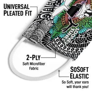 Load image into Gallery viewer, Looney Tunes Daffy Duck Mandala Kids Universal Pleated Fit, 2-Ply, SoSoft Elastic Earloops