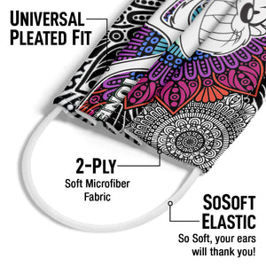 Load image into Gallery viewer, Looney Tunes Taz Mandala Adult Universal Pleated Fit, 2-Ply, SoSoft Elastic Earloops