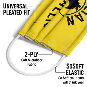 Rocky Italian Stallion Logo Adult Universal Pleated Fit, 2-Ply, SoSoft Elastic Earloops