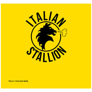 Rocky Italian Stallion Logo Adult Mask Design Full View