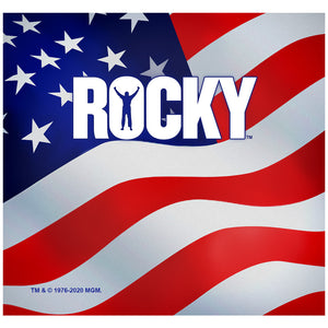 Rocky American Flag Adult Mask Design Full View