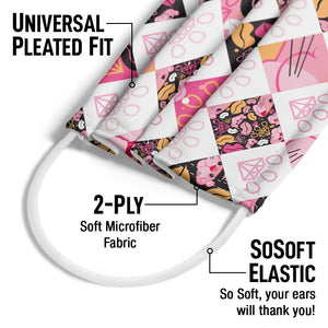 Pink Panther Designer Paw Pattern Adult Universal Pleated Fit, 2-Ply, SoSoft Elastic Earloops