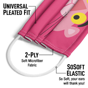 Load image into Gallery viewer, Pink Panther Face Adult Universal Pleated Fit, 2-Ply, SoSoft Elastic Earloops