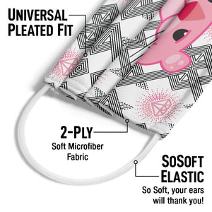 Pink Panther My Angles Adult Universal Pleated Fit, 2-Ply, SoSoft Elastic Earloops