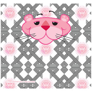 Pink Panther My Angles Adult Mask Design Full View