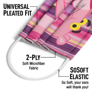Pink Panther Hello Adult Universal Pleated Fit, 2-Ply, SoSoft Elastic Earloops