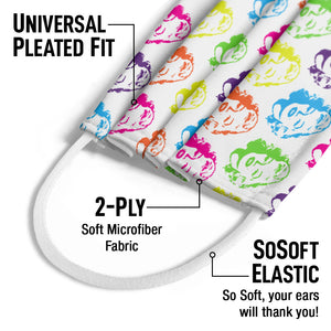 Load image into Gallery viewer, Marilyn Monroe Face Pattern Kids Universal Pleated Fit, 2-Ply, SoSoft Elastic Earloops