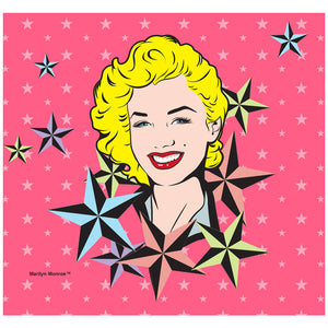 Marilyn Monroe Nautical Stars Adult Mask Design Full View