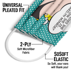 Marilyn Monroe Who Does She Think She Is? Adult Universal Pleated Fit, 2-Ply, SoSoft Elastic Earloops