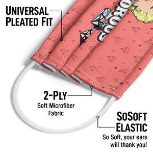 Marilyn Monroe Glamorous Adult Universal Pleated Fit, 2-Ply, SoSoft Elastic Earloops