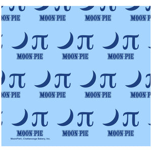 MoonPie Nerdy Moon Pi Pattern Adult Mask Design Full View