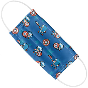 Captain America Kawaii Adult Flat View