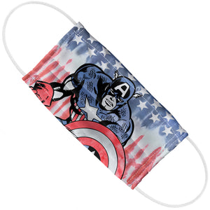 Captain America Tie Dye Adult Flat View