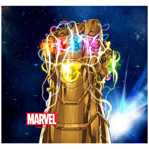 Thanos Infinity Gauntlet Adult Mask Design Full View
