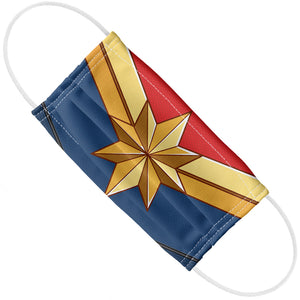 Captain Marvel Logo Adult Flat View