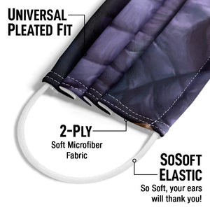 Thanos Face Adult Universal Pleated Fit, 2-Ply, SoSoft Elastic Earloops
