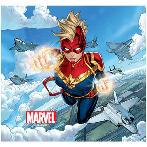 Captain Marvel Jets Adult Mask Design Full View