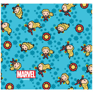 Load image into Gallery viewer, Captain Marvel Kawaii Adult Mask Design Full View
